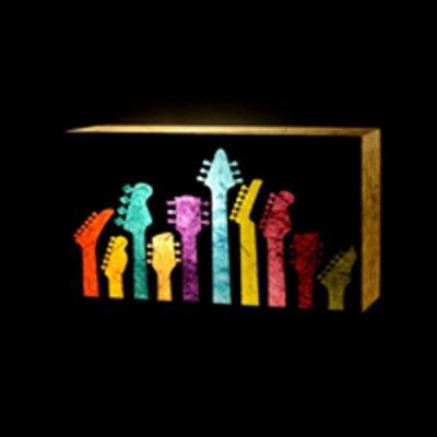 Colour Guitars Wall Lamp