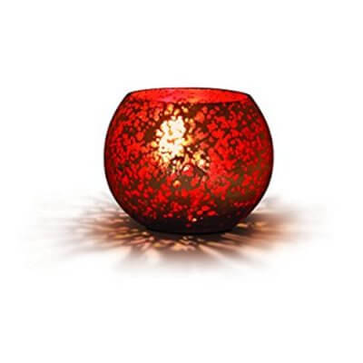 Philips Vibrant Expressions 91144 LED Candle Light (Silver and Red)
