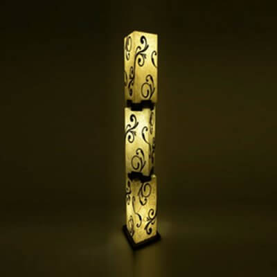 Silk art Floor Lamp