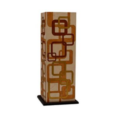 Squre Veiws Brown Table Lamp