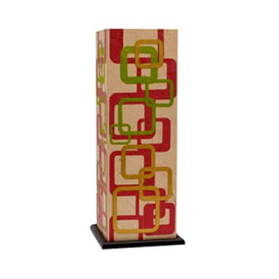 Squre Veiws  Multicolor Table Lamp
