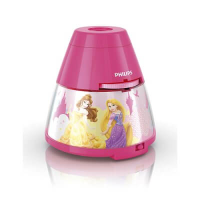 71769/28 Disney 2-in-1 Projector and night light Princess, pink, LED