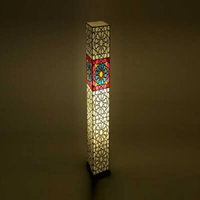 Traditional Rangoli Floor Lamp