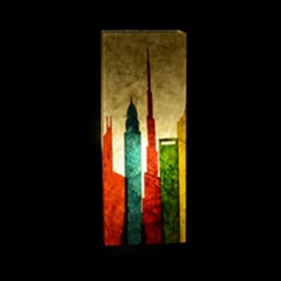 Tall City Wall Lamp
